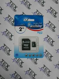 MicroSD  2 Gb Smart Buy +SD адаптер (class  4)