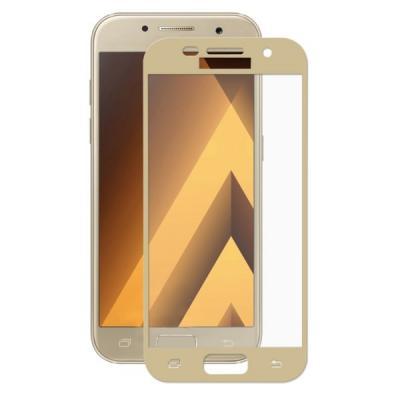 Защитное стекло для Samsung SM-A320F (A3 2017) (Полное покрытие) Золото купить
