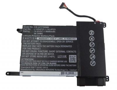 Аккумуляторная батарея для Lenovo Y700 (14.8V 4000mAh) PN: L14L4P23, L14M4P23, L14S4P22 купить