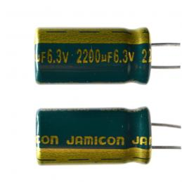 Конденсатор 6.3В 2200мкФ JAMICON WL 10x21 +105 °С