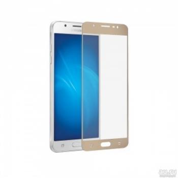 Защитное стекло (тех. упаковка) для Samsung J330F (J3 2017) (полное покрытие 3D) Золото купить