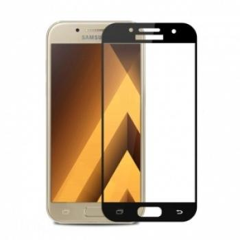 Защитное стекло (тех. упаковка) для Samsung J330F (J3 2017) (Полное покрытие) Черное купить