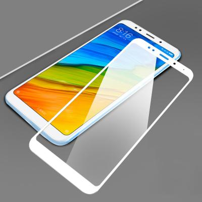 Защитное стекло (тех. упаковка) для Xiaomi Redmi 5 (Полное покрытие) Белое купить