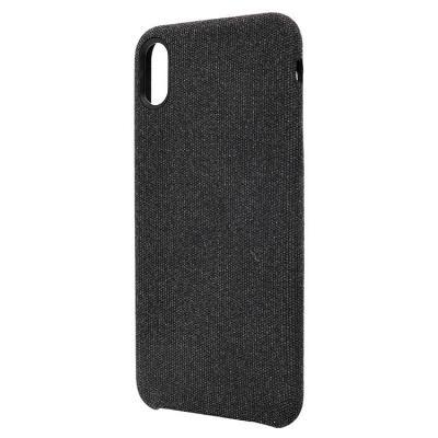 Чехол-накладка для Apple iPhone XS Max текстиль Черный купить