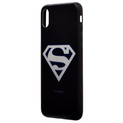 Чехол-накладка для Apple iPhone XS Max Luminous Логотип Супермена купить