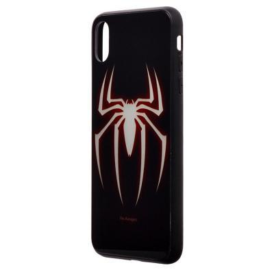 Чехол-накладка для Apple iPhone XS Max Luminous Логотип Человека-Паука купить