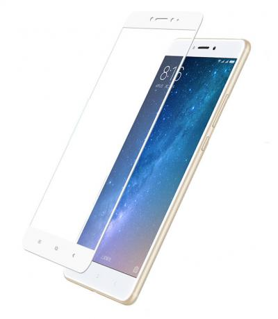 Защитное стекло (тех. упаковка) для Xiaomi Mi Max 2 (Полное покрытие 3D) Белое купить
