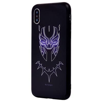Чехол-накладка для Apple iPhone X/XS Luminous Логотип Черной Пантеры купить