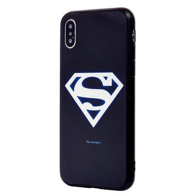 Чехол-накладка для Apple iPhone X/XS Luminous Логотип Супермена купить