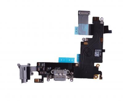 Шлейф для iPhone 6 Plus на системный разъем/разъем гарнитуры/микрофон Серый купить